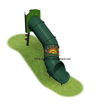 Diameter Outdoor HPL Playground Equipment Plastic Slide