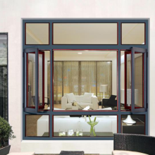 Lingyin Construction Materials Ltd Fashion aluminum alloy doors and windows  Casement Window with steel net