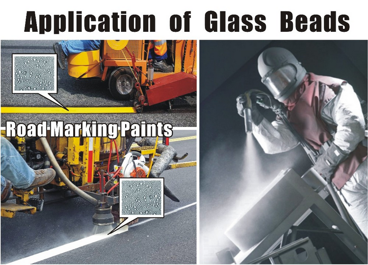 application of micro glass beads