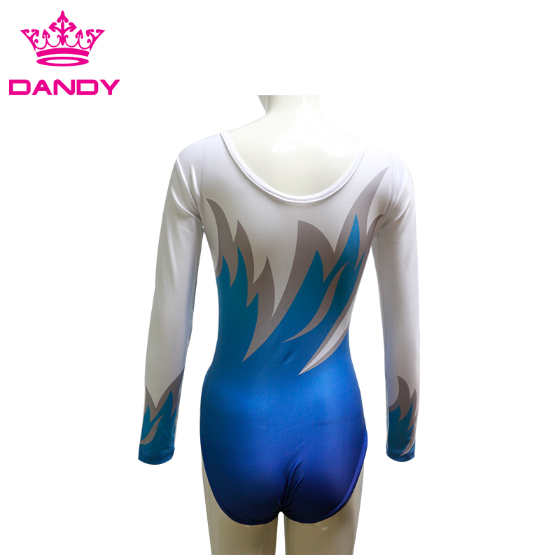 white gymnastics leotard