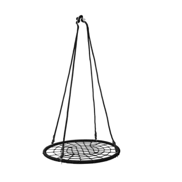 Playground equipment tree net swing