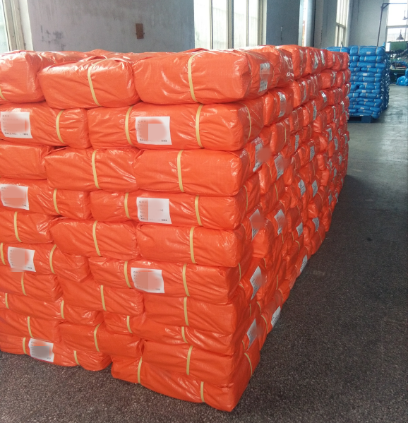 130gsm orange PE tarpaulin with UV