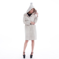 White cashmere wool overcoat