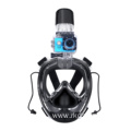 New wide view full face snorkel mask of universal size