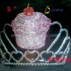 5 Inch princess cupcake pageant crowns