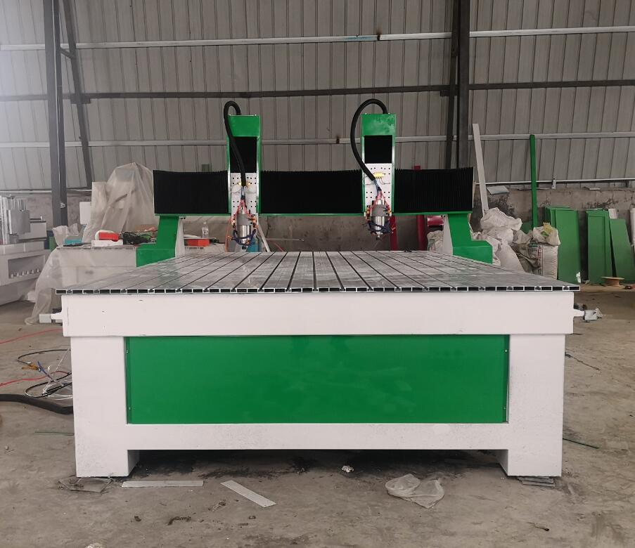 cnc rouer machine two heads