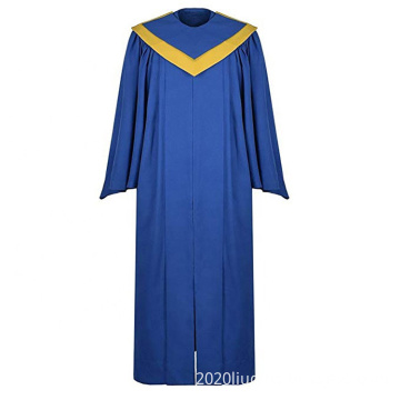 Wholesale Choir Robes for Church with Choir V Stole in Royal Blue