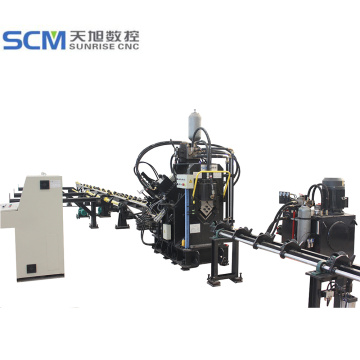 Angle Iron Metal Punching Character Writing CNC Machine
