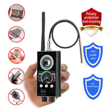IR Laser RF Detector T9000 Anti Spy Cam Hidden Camera Scanner WiFi Signal GPS GSM Radio Phone Tracker Finder Private Security