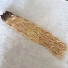 T8/60 natural wave hand tied human hair