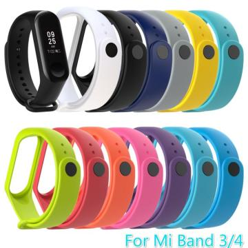 Strap For Xiaomi Mi Band 3 4 Bracelet Watch Band Waterproof Smart Watch For Miband 4 3 Strap Fitness Replacement Wristband TXTB1