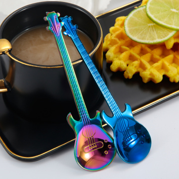 Guitar Shaped Tea  Coffee Ice Cream Spoon