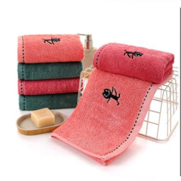 Towel gift handkerchief embroidery home daily water washs