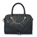 Kuilted women's Tote Bag Black Quilted Nappa Bags