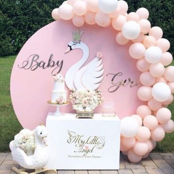 Allenjoy Solid Color Round Backdrop Cover Pink Blue Red Birthday Wedding Circle Banner Baby Shower Photocall Party Background