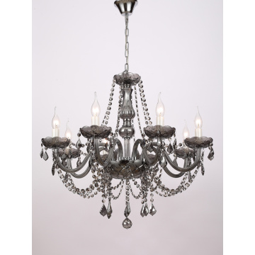 Modern Dining Room Smoke grey K9 Crystal Chandelier