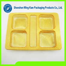 Gold Mini Plastic dessert Packaging Tray