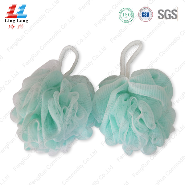 Shiny durable bathing sponge ball