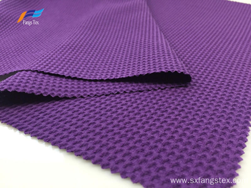 100% Polyester 180D CEY Purple Bubble Jacquard Fabric