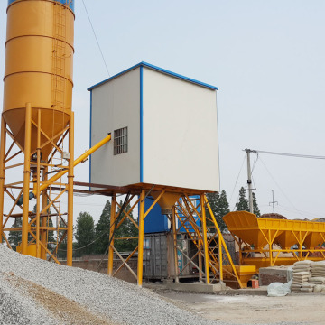 HZS25 stationary mini ready mix concrete batching plant