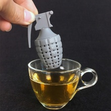 Tea Bag Food Grade Leaf Herbal Spice Filter 1 Pcs Grenade Shape Tea Infuser Strainers Creative Filter Silicone Coffee Tea Acces