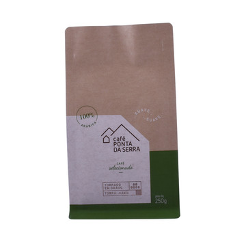 Foil Stamping Matte Finishes Kraft Paper Coffee Bag