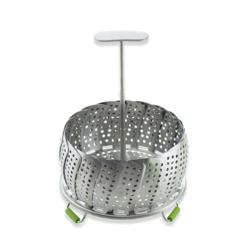 Stainless Steel Foldable Vegetable Steamers Basket With Feet