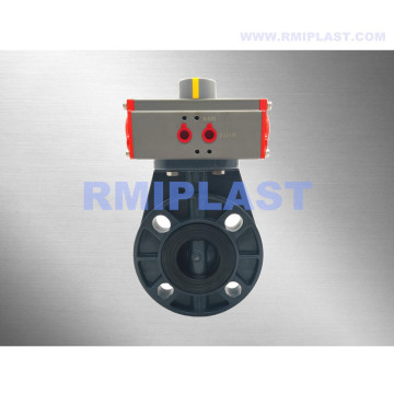 PP Butterfly Valve Pneumatic Operate Single Acting