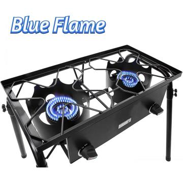 150000BTU Outdoor Camping Double Burner Propane Gas Stove