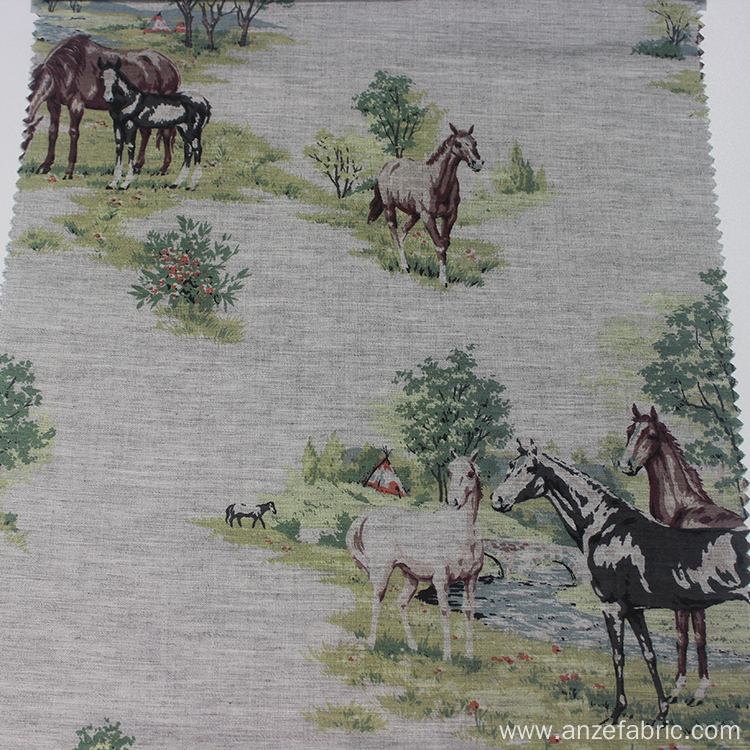 Traditional Ink Painting 100% Cotton Yarn Dyed Fabric