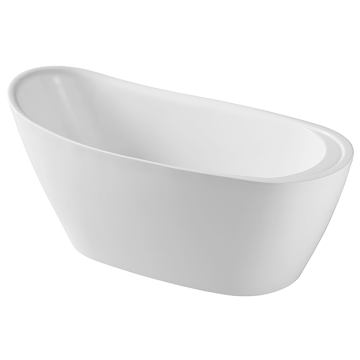 White Pedestal Connected Freestanding Bath Tub