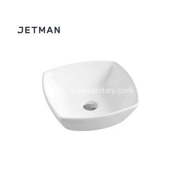 Bathroom ceramincs rectangul line art basin