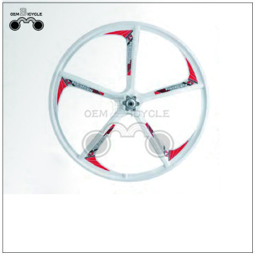 24 inch white road bike alloy wheels