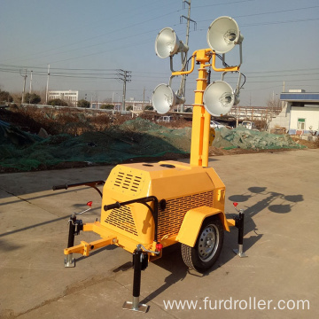 Professional mobile portable light tower with trailer car for sale FZMTC-1000B