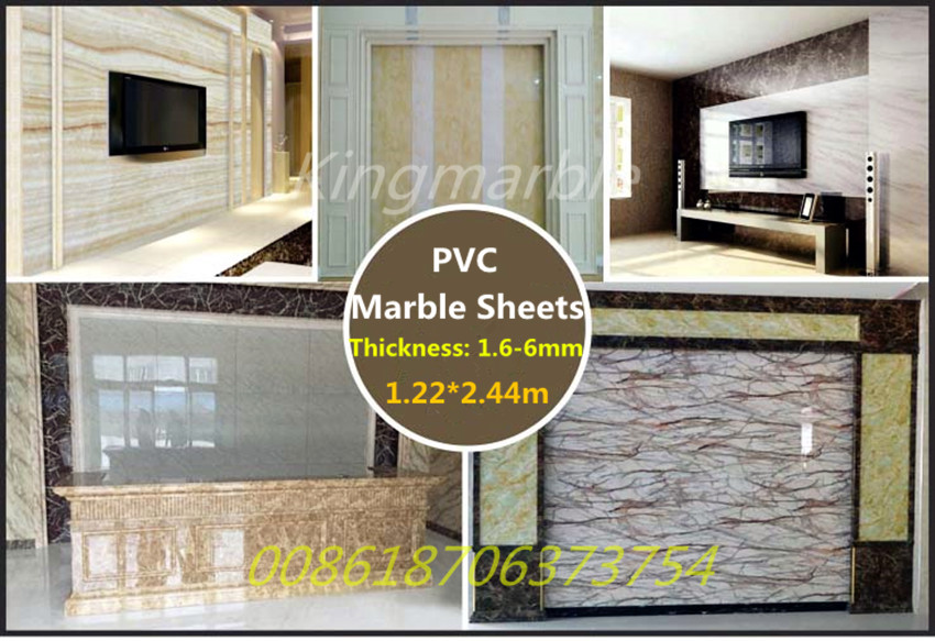 high glossy  panel Marble UV panel