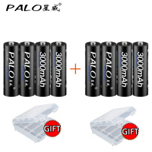 PALO 1.2V AA Rechargeble Battery 3000mah Ni-mh AA Battery Rechargeable For Flashlight Battery AA