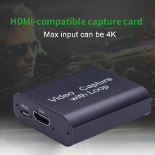 4K HDMI-compatible Video Capture Card 1080p Game Capture Card USB 3.0 Recorder Box Device For Live Streaming Video Recording