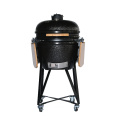 Black Ceramic Kamado Grill Barbecue