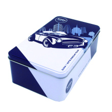 Cosmetic tin with door hinge cans