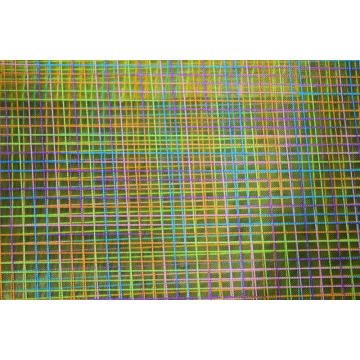 Nylon Polyester Colorful Checks Mesh Fabric