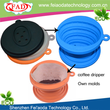 Food Grade Silicone Folding Coffee Stand Dripper