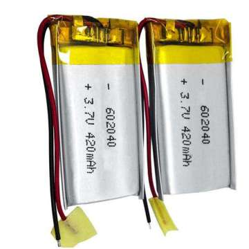 Hottest 602040 3.7V 420mAh Lithium Polymer Battery