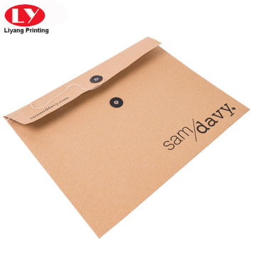 Printed string and button kraft envelope