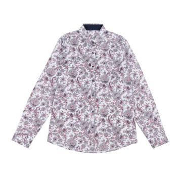 Men's Long Sleeve Woven Print Shirts