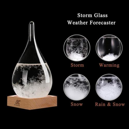Tear Drop Shaped Glass Storm Wettervorhersage