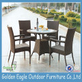 PE Rattan Garden Panlabas na Wicker Table Muwebles