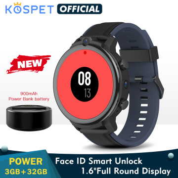 KOSPET POWER 3GB 32GB Smart Watch For Men 1.6[ Android 7.1 900mAh Dual Cameras WIFI With Sim Card 4G Smartwatch 2020 GPS Phone