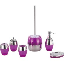 Stainless steel Violet Bathroom Accessory Set