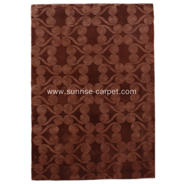 Polyester Embossing Design Carpet