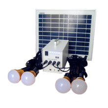 10w small solar lighting system with 4pcs led bulbs